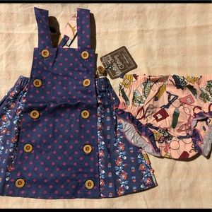 NWT Matilda Jane Dress and Bloomers Sz 6-12 Months